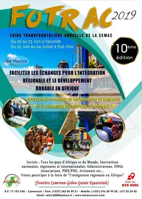 La Foire De L'Intégration Sous – Régionale Et Du Développement Durable D'Afrique Centrale Ouvre Ses