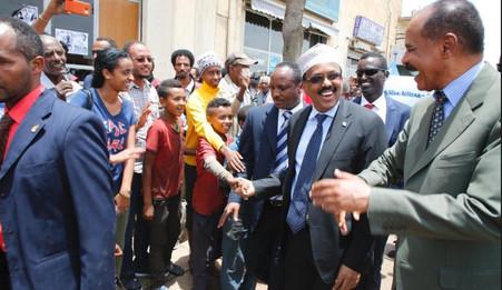 ERYTHREE  / SOMALIE : LE PRÉSIDENT  SOMALIEN EN VISITE EN ERYTHREE