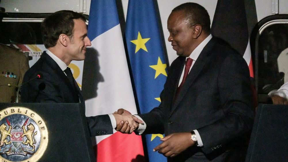 Macron en visite d'Etat ches Uhuru Kanyatta