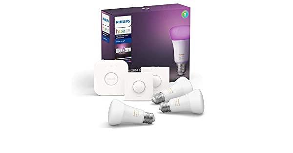 Philips Hue Renkli Akıllı Başlangıç Seti 3'lü Akıllı Butonlu E27 (Bluetooth Özel