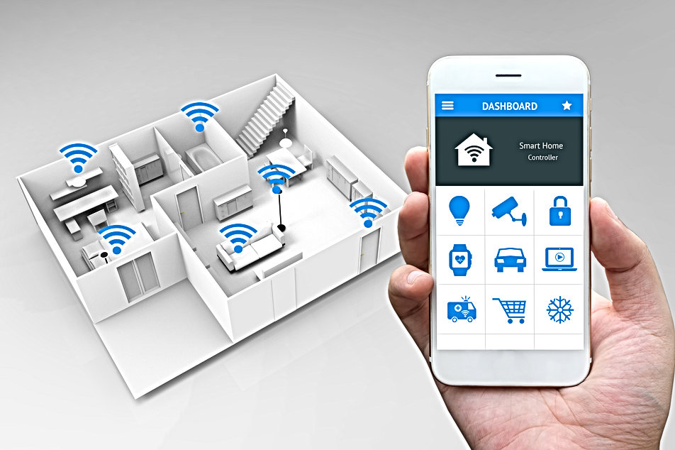 Internet of things , iot , smart home an