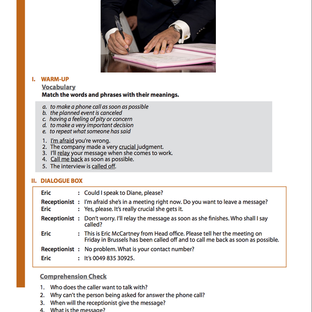 BUSINESS ENGLISH 5