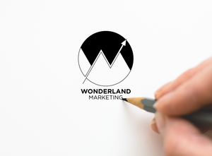 wonderland marketing logo on paper