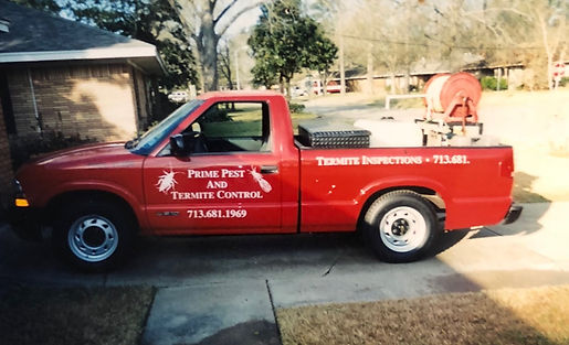 First Prime Pest Control Truck