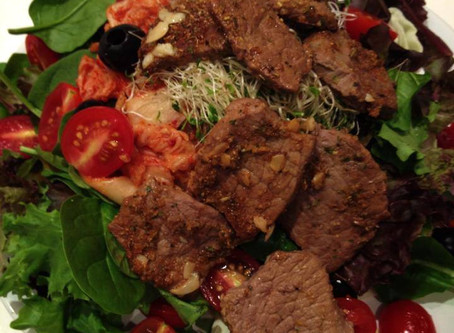 Thai beef salad with a Korean twist