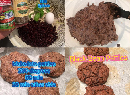 Black bean patties