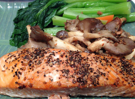 Salmon and veg with a twist