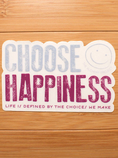 Choose Happiness Color Decal