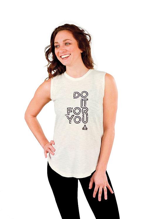 Do It For You Sleeveless Slub / White