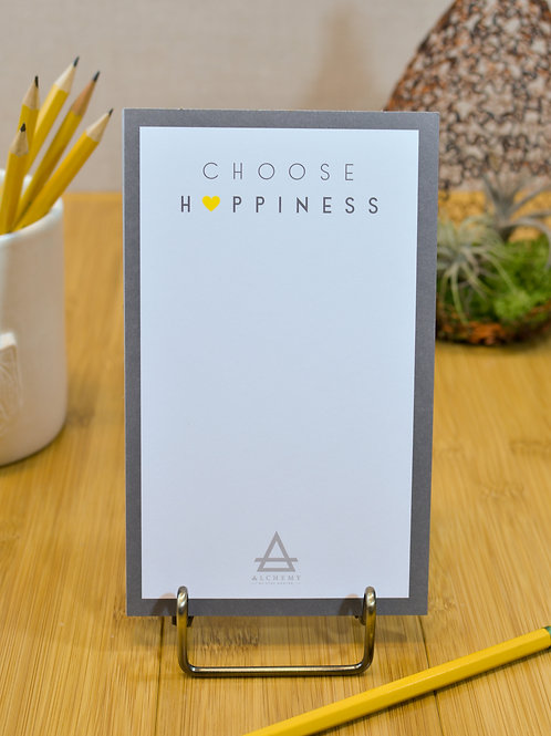 Choose Happiness Quotepad Set