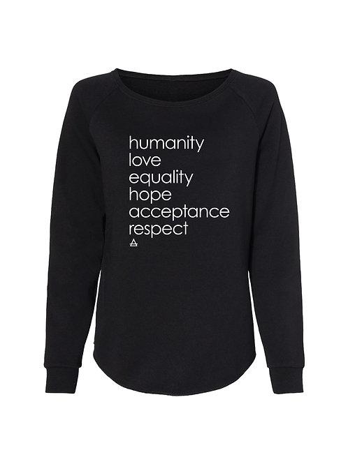 Humanity Wide Neck Sweatshirt