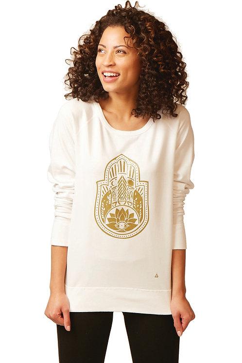 Hamsa Raglan Sleeve Sweatshirt