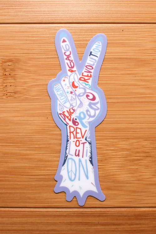 Peace Revolution Decal