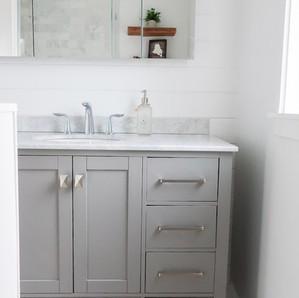 Large bathroom vanity