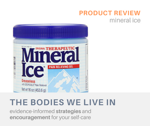mineral ice product review massage therapy