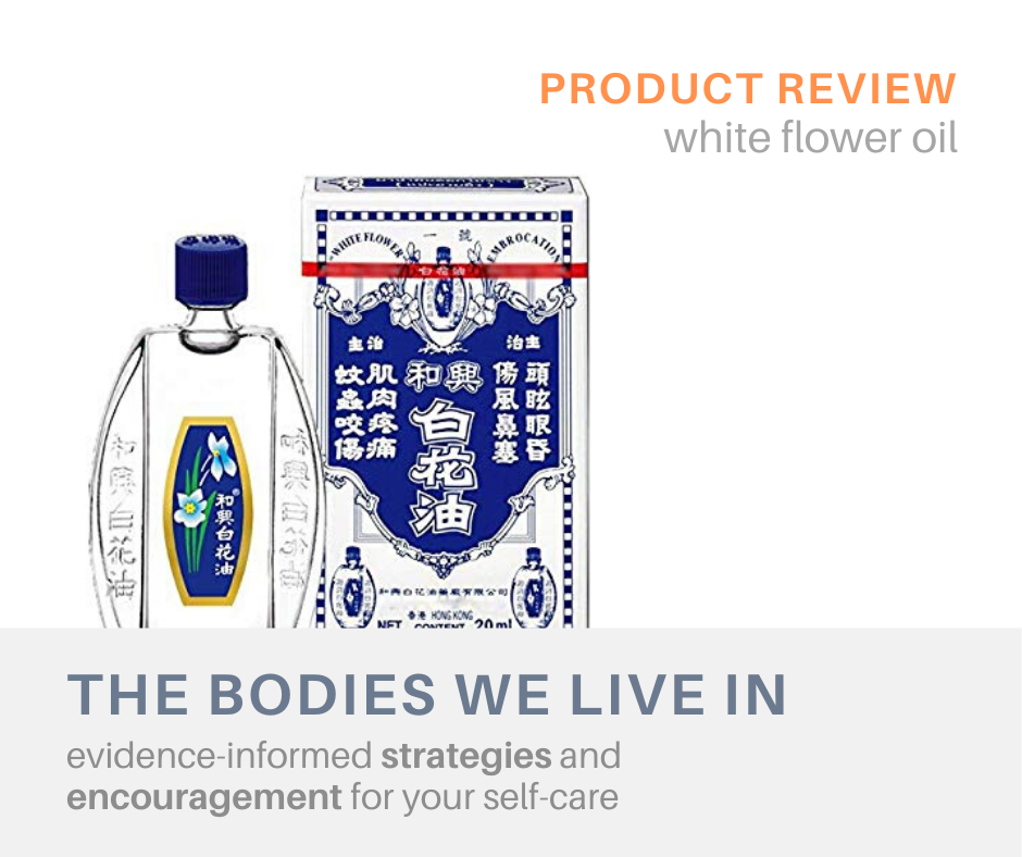 product review white flower oil massage therapy