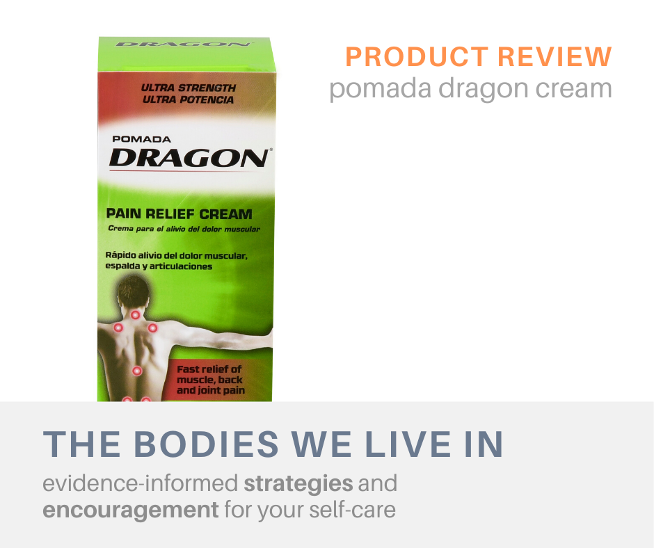 dragon cream review muscle aches massage therapy holland michigan