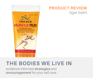 tiger balm review muscle aches massage therapy