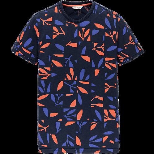 Cast Iron | Printed Slub Jeresy Short Sleeve T-Shirt CTSS205252-5118