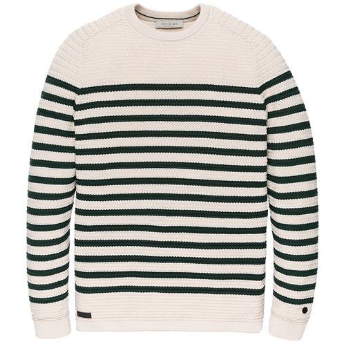 Cast Iron | R-Neck Cotton Stripe Knit CKW206332-7011