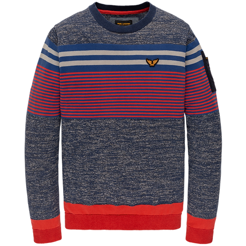 PME Legend | Cotton Mixed Stripe Pullover PKW208322-5309