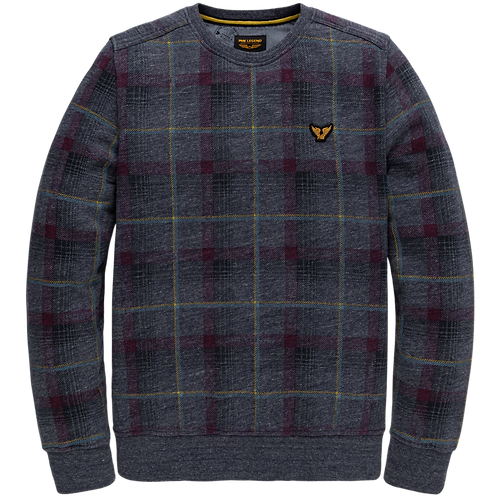 PME Legend | Checked Crewneck Sweat PSW206413-5288
