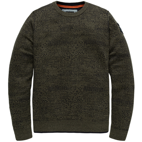 PME Legend | Cotton Plated Allover Jacquard Crewneck PKW205304-6026