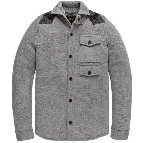 PME Legend | Woolmix Buttoned Highneck Cardigan PKC206355-921