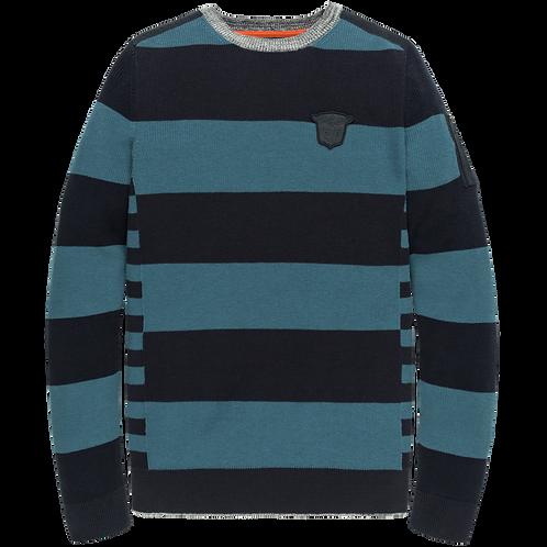 PME Legend   Cotton Striped Crewneck PKW205303-5288