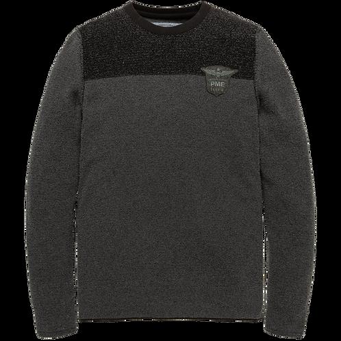 PME Legend | Crewneck Cotton Boucle Knit PKW206324 - 996