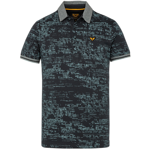 PME Legend | SINGLE JERSEY ALL OVER PRINTED SHORT SLEEVE POLO PPSS211870-5073