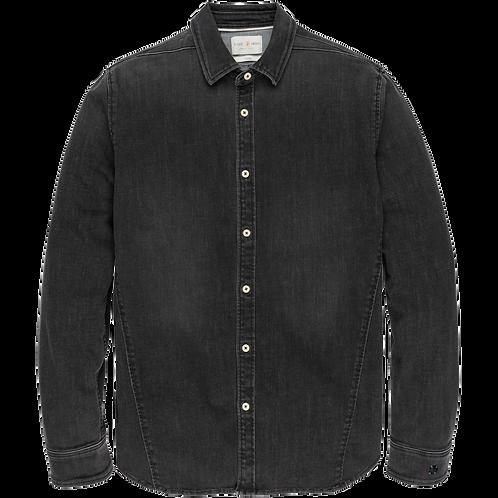 Cast Iron | Long Sleeve Black Denim Shirt CSI206630-CBD
