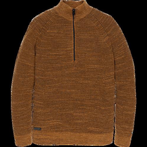 Cast Iron | Half Zip Cotton Knit CKW206327-8085