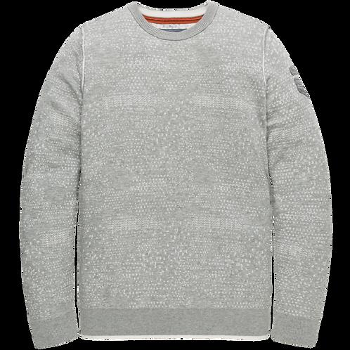PME Legend | Cotton Plated Allover Jacquard Crewneck PKW205304-921
