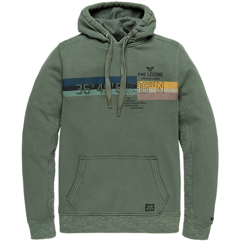 PME Legend | Washed Terry Hooded Sweater PSW205403-6026