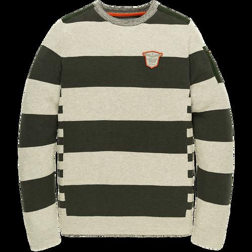 PME Legend | Cotton Striped Crewneck PKW205303-921