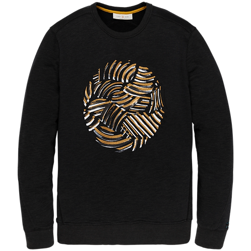 Cast Iron   R-Neck Slub Fleece Sweater CSW206411-9124