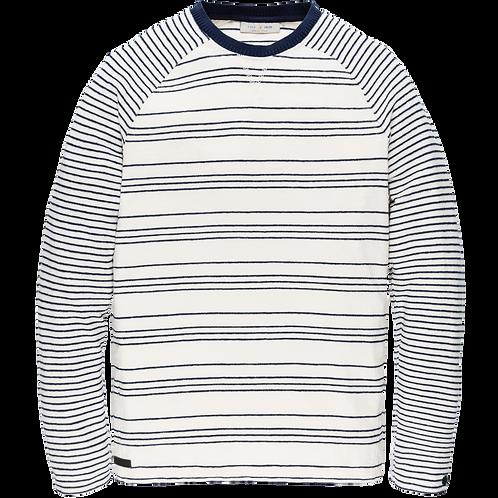 Cast Iron | Long Sleeve R-Neck Mouline Ottoman CLS205250 - 7155