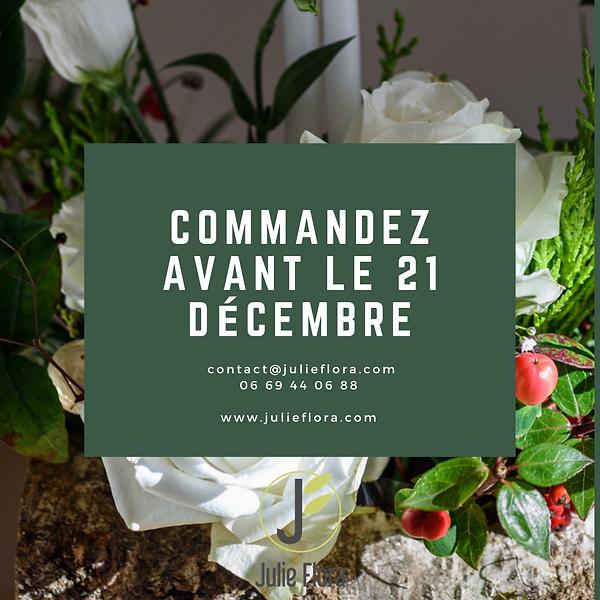 Précommandes Noël - Julie Flora Nantes