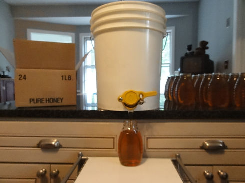 Bottling honey