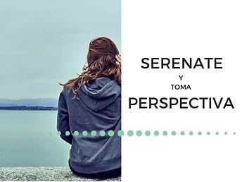Serénate y toma perspectiva