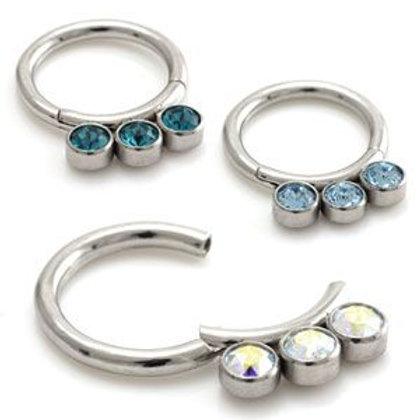 Jewel Hinged Micro Segment Ring  - 1.2mm