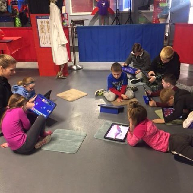 The kids are hard at work at our STEAM club! If your kids love technology, turn it into a learning o