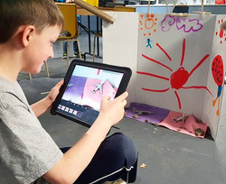 This week for Steam Club, we did stop-motion animation! What a fun Saturday morning