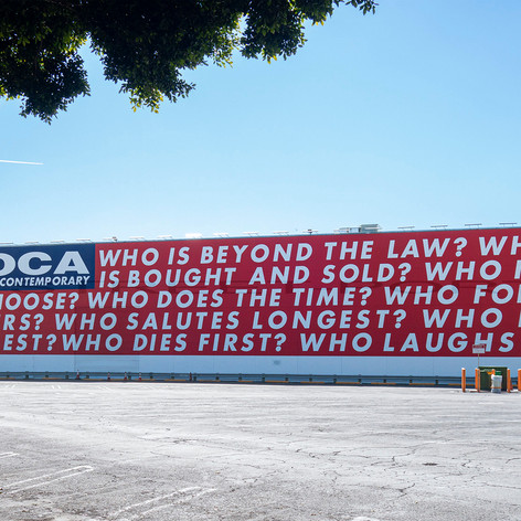 Barbara Kruger, Untitled (Questions), MOCA