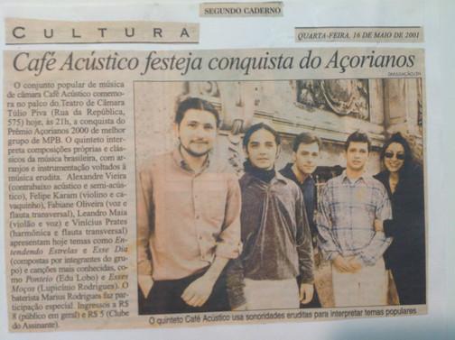 Grupo café Acústico em 2000