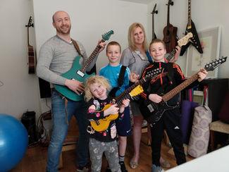 Bryan Jardim Guitar Classes Greg Family.