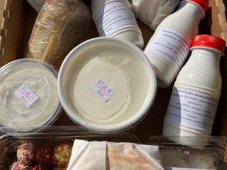 Nouveauté au magasin: produits laitiers à commander