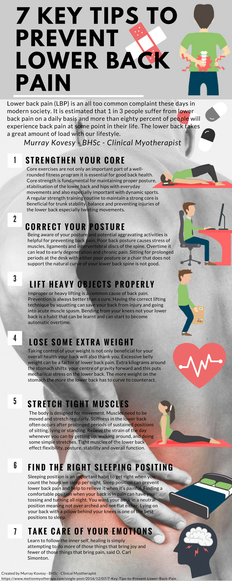 7 Key Tips to Prevent Lower Back Pain