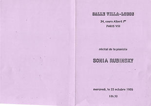 Sonia Rubinsky Carrière 86